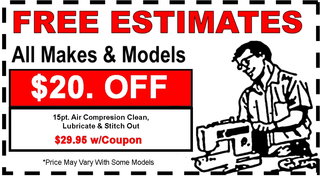 Sewing Machine Repair Services Luke's Sewing Center Magnificent Sewing Machine Dealers Near Me